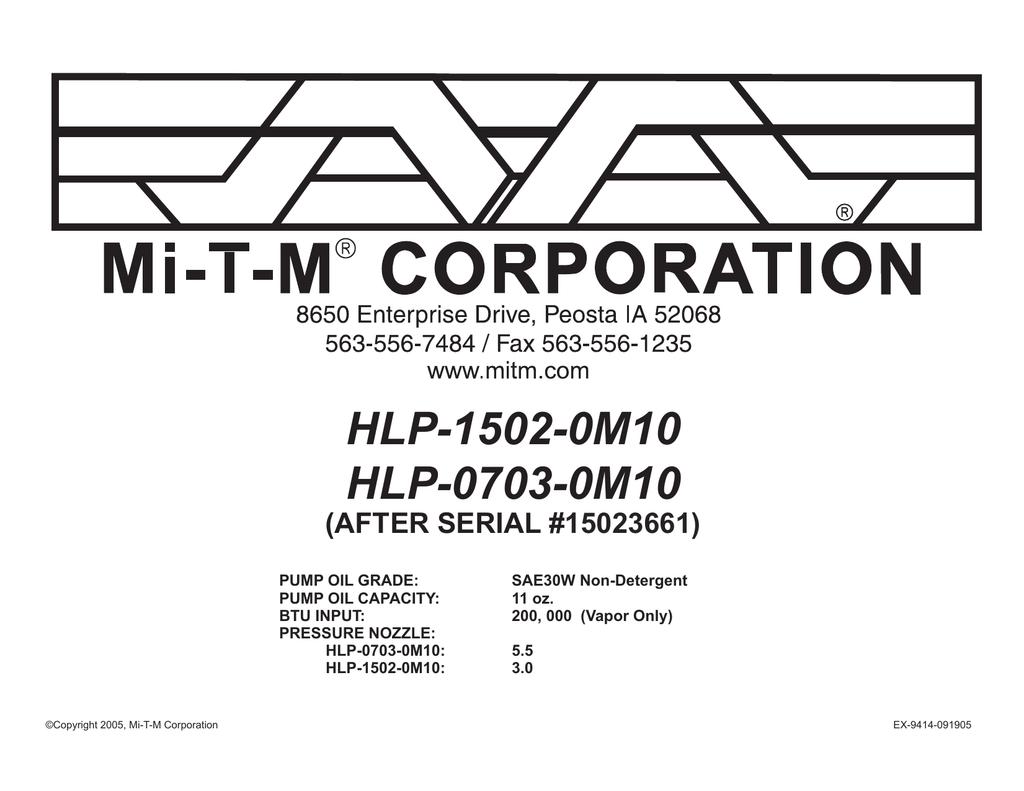 MI-T-M 22-0171 Pressure Switch