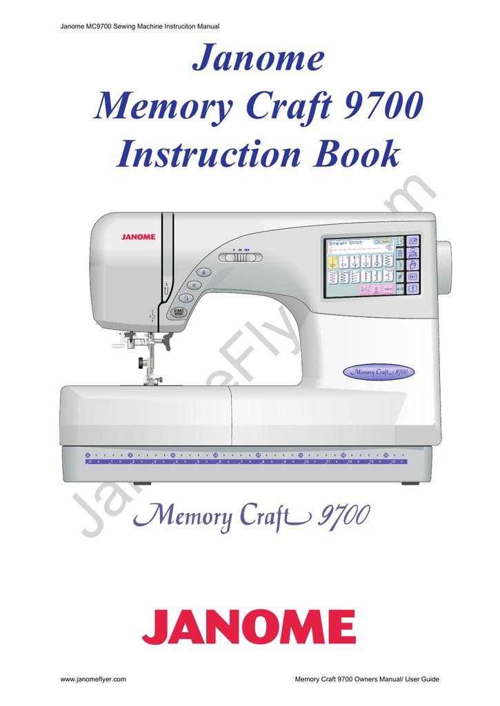Inst Book Janome MC40 Manualzz Impressive Janome Memory Craft Mc 9700 Sewing And Embroidery Machine