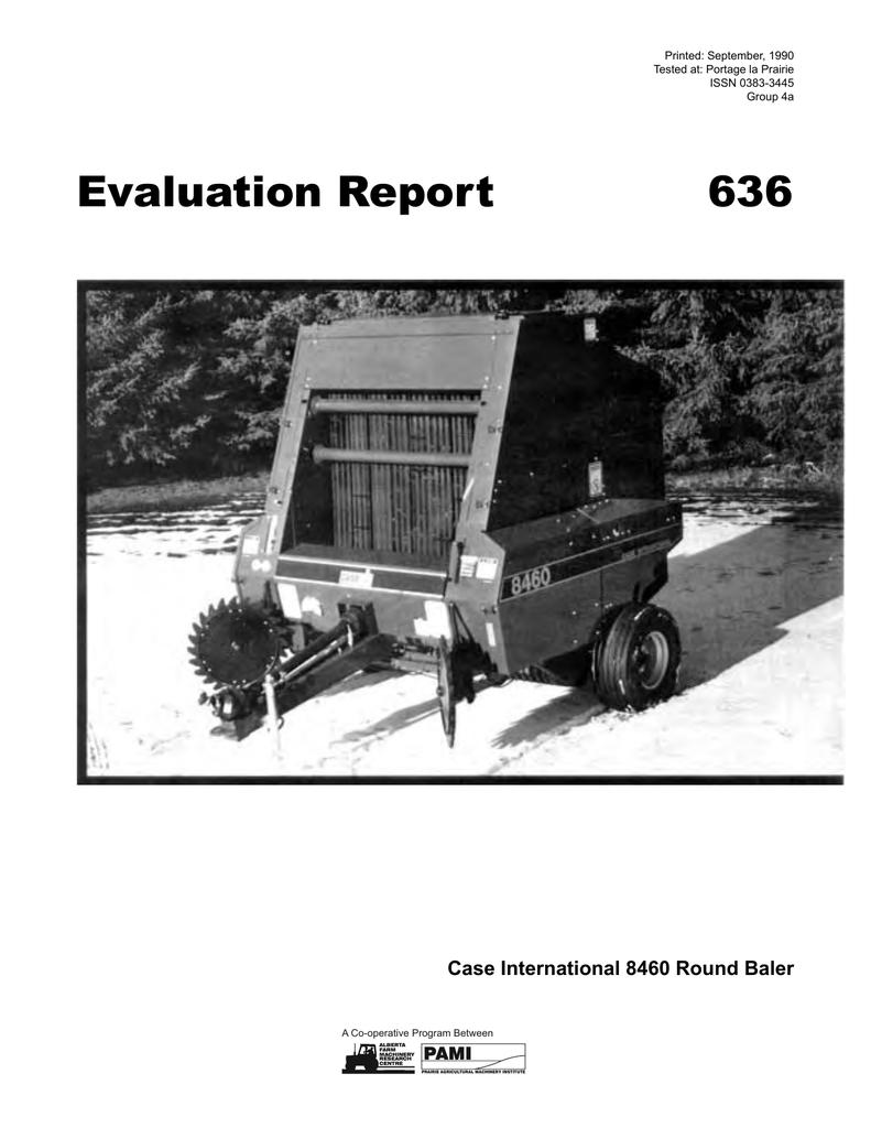 636 Case International 8460 Round Baler (1990) | manualzz com