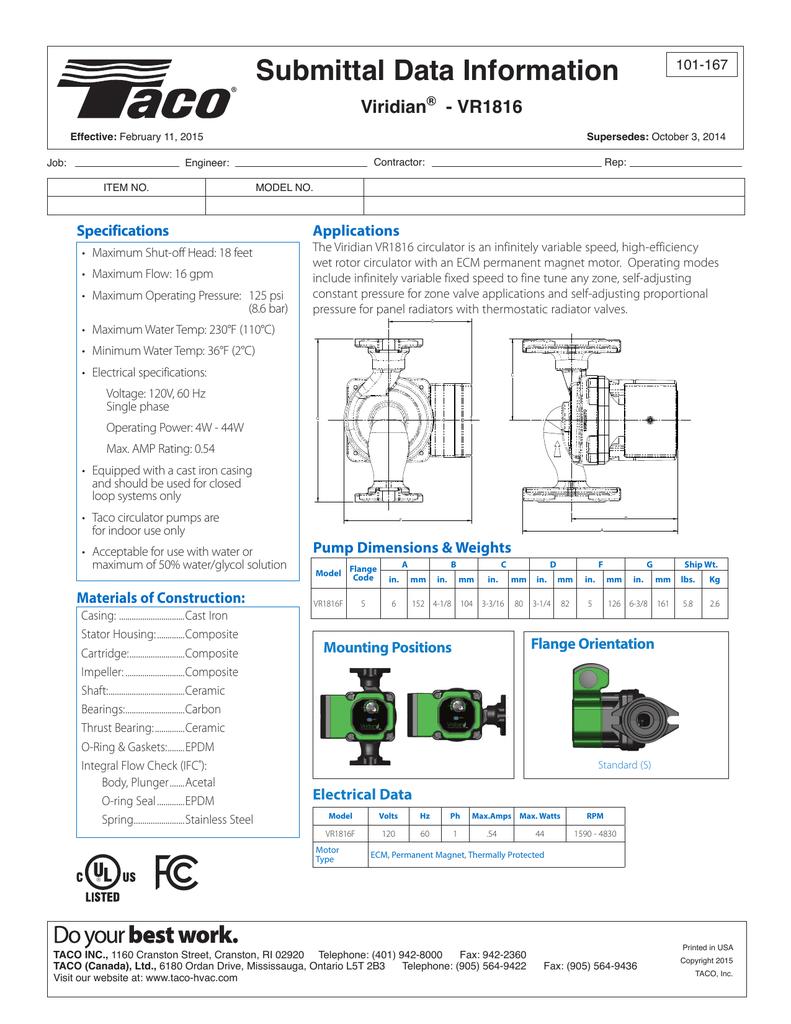 Submittal Data Sheet (1)   manualzz com