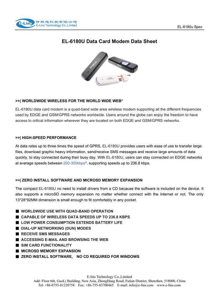 6180u USB GSM GPRS Modem Datasheet   manualzz com