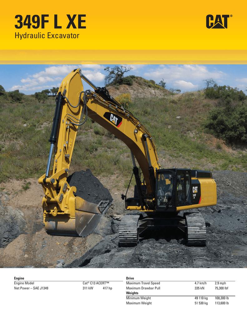 349F L XE Hydraulic Excavator   manualzz com