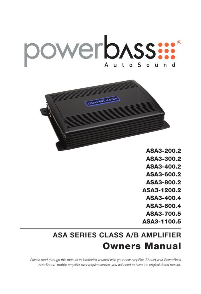Powerbass ASA3-1200.2   1200w 2 Channel Amplifier