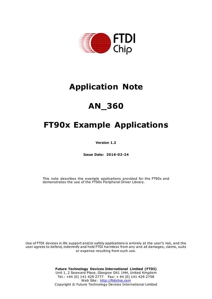 Ftdi I2c Example