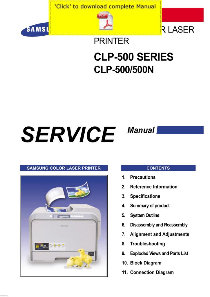 SAMSUNG Color Laser CLP-500 CLP   manualzz com