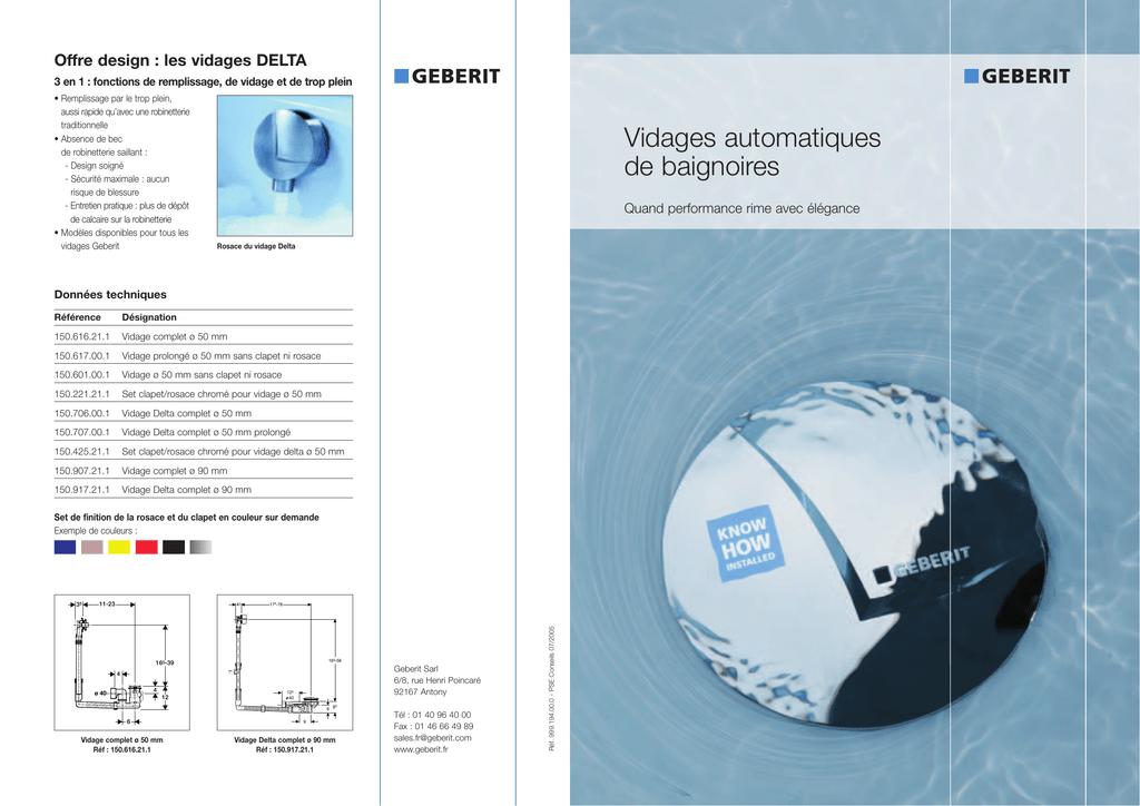 Brochure Vidages De Baignoire Manualzzcom