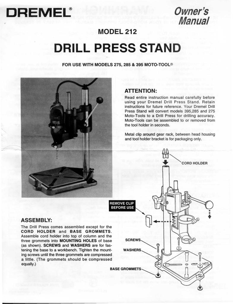 dremel moto tool model 395 type 5 manual