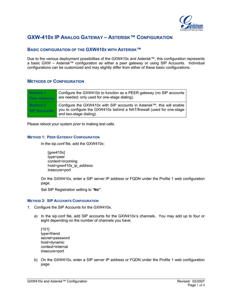 GXW-410x Asterisk   manualzz com