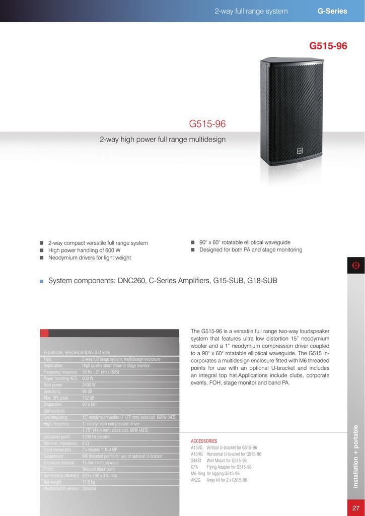 Coda G515-96 Product Data   manualzz com