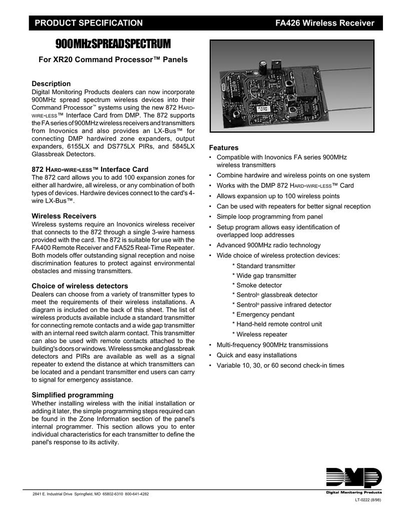 FA426 Wireless Receiver Installation Manual | manualzz.com on lighting diagrams, switch diagrams, led circuit diagrams, battery diagrams, friendship bracelet diagrams, motor diagrams, engine diagrams, transformer diagrams, troubleshooting diagrams, pinout diagrams, sincgars radio configurations diagrams, electrical diagrams, gmc fuse box diagrams, smart car diagrams, internet of things diagrams, hvac diagrams, electronic circuit diagrams, honda motorcycle repair diagrams, series and parallel circuits diagrams, snatch block diagrams,