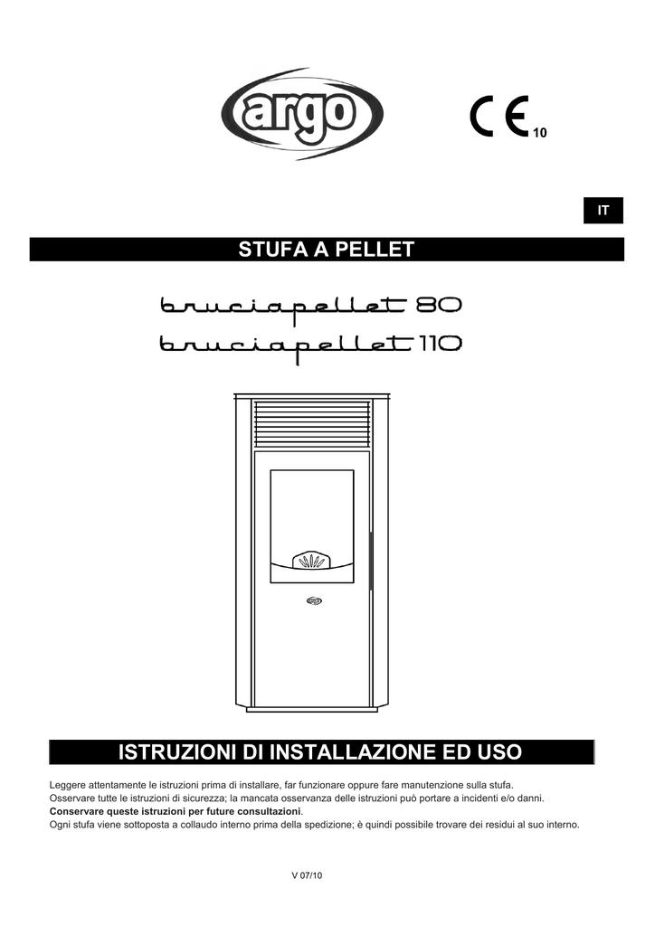 Argo Clima Stufa Pellet Bruciapellet 80 110 Manualzz Com