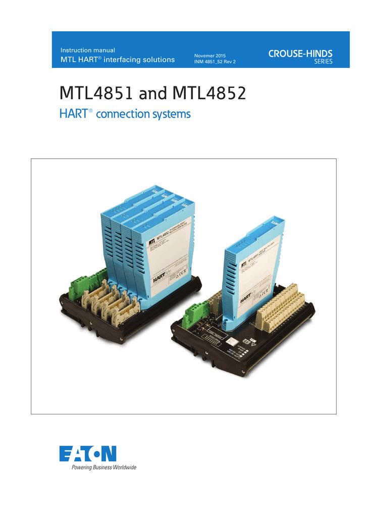 HCU16 Analogue Input MTL 16 Channel MTL4840 Series HART Connection Unit