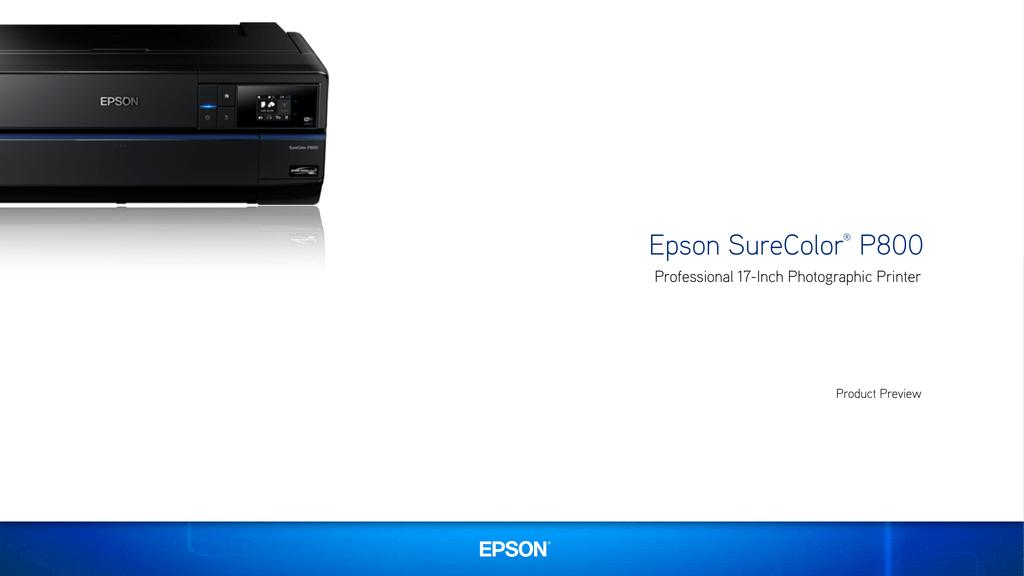 Epson SureColor P800 Professional 17-Inch Photographic