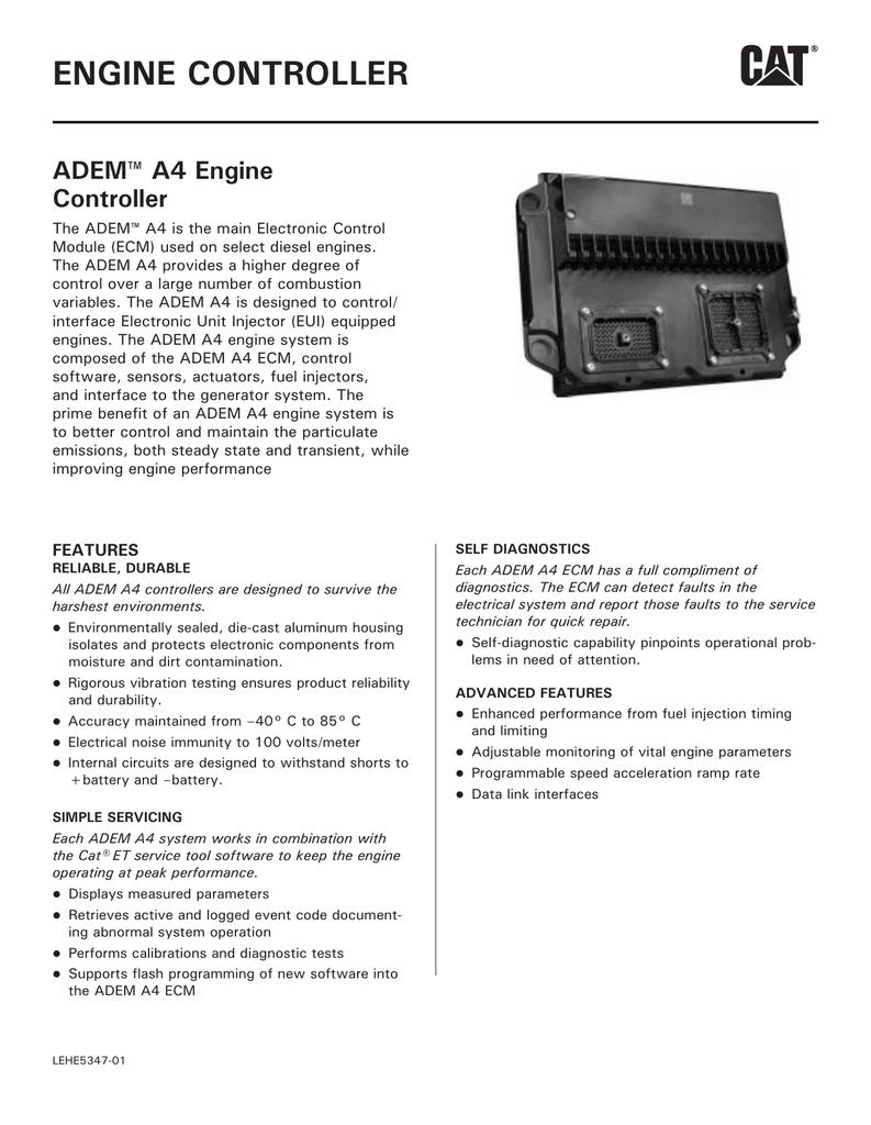 C9 ADEM A4 Engine Controller LEHE5347-01 | manualzz com