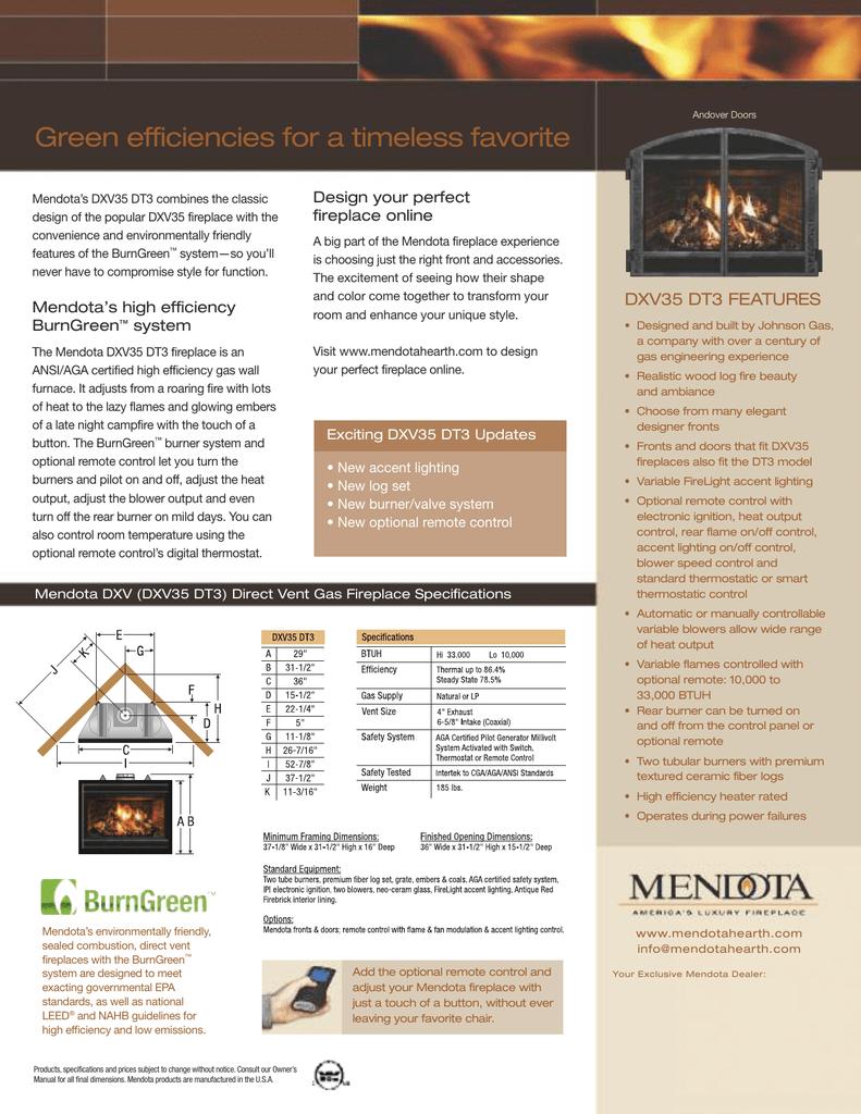 Fantastic Mendota Gas Fireplace Model Dxv35 Deep Timber 3 Manualzz Com Beutiful Home Inspiration Truamahrainfo