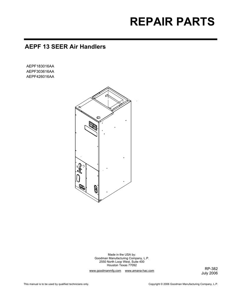 Indoor Unit Parts Manual | manualzz.com on