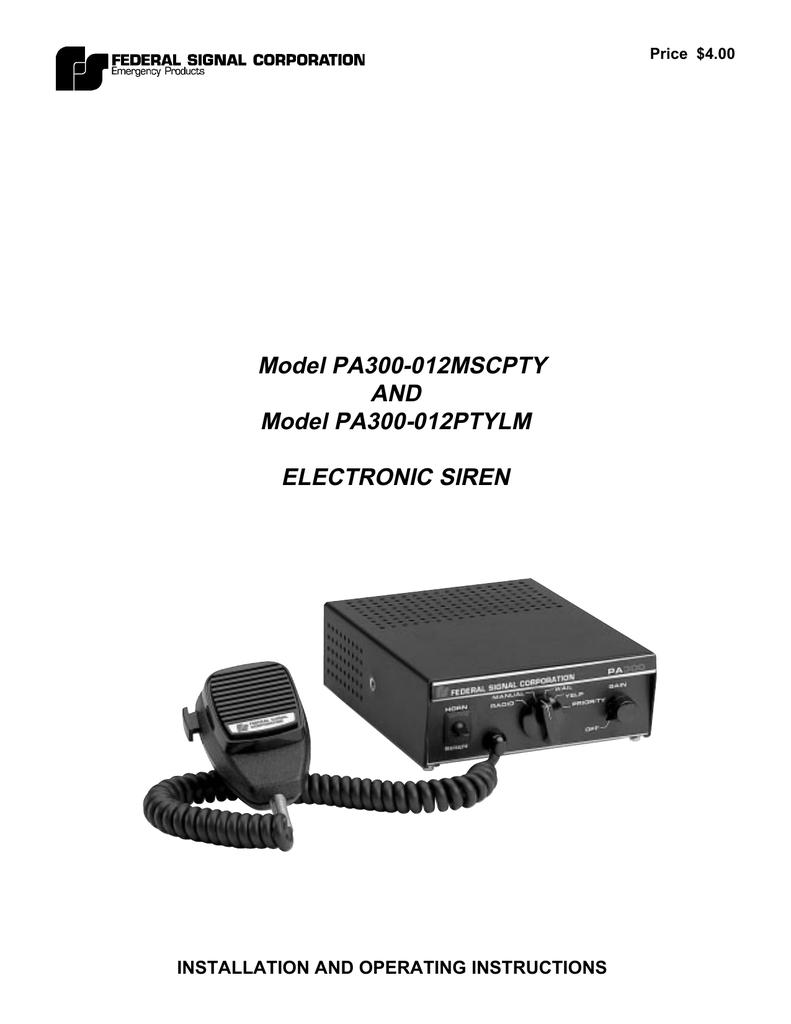Model PA300-012MSCPTY and Model PA300 | manualzz.com on