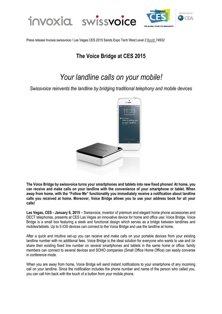 The Voice Bridge at CES 2015 | manualzz com