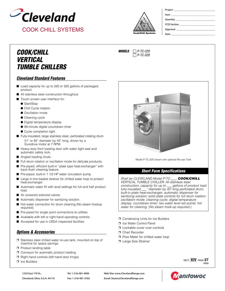 Tumble Chillers | Manualzz