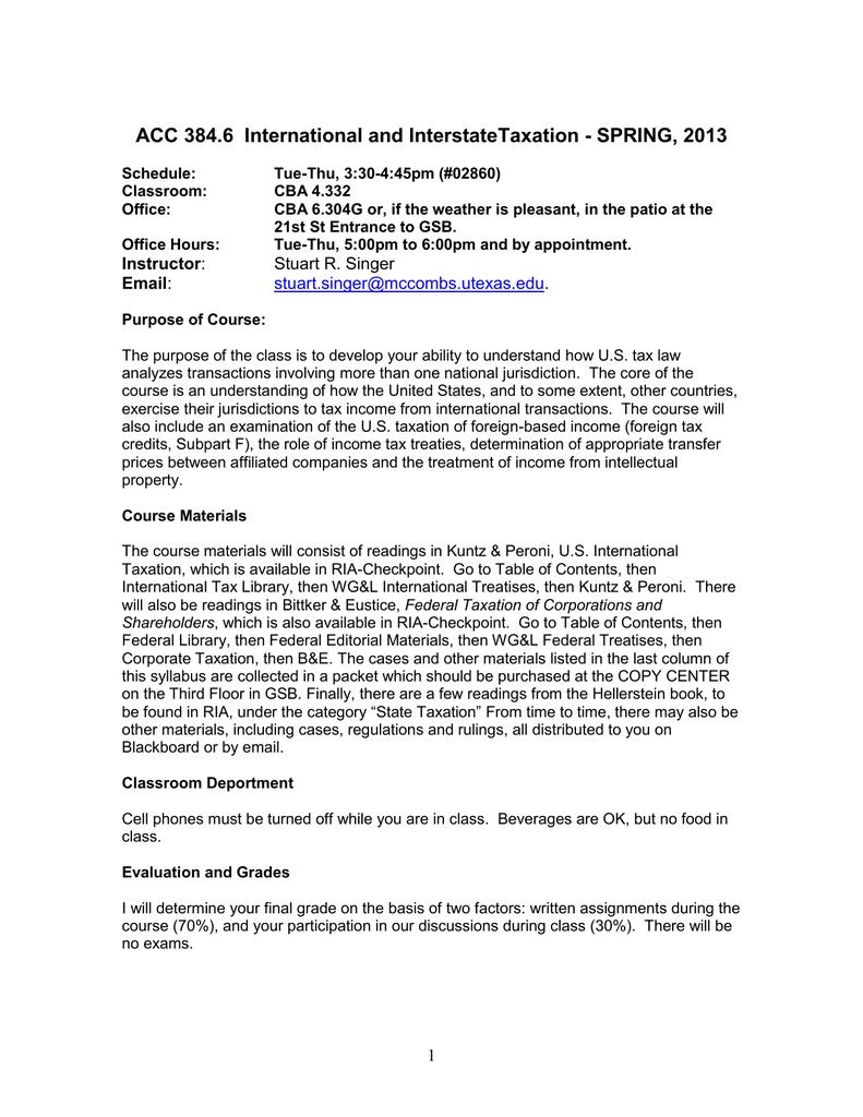 ACC 384 6 - International and Interstate Taxation   manualzz com