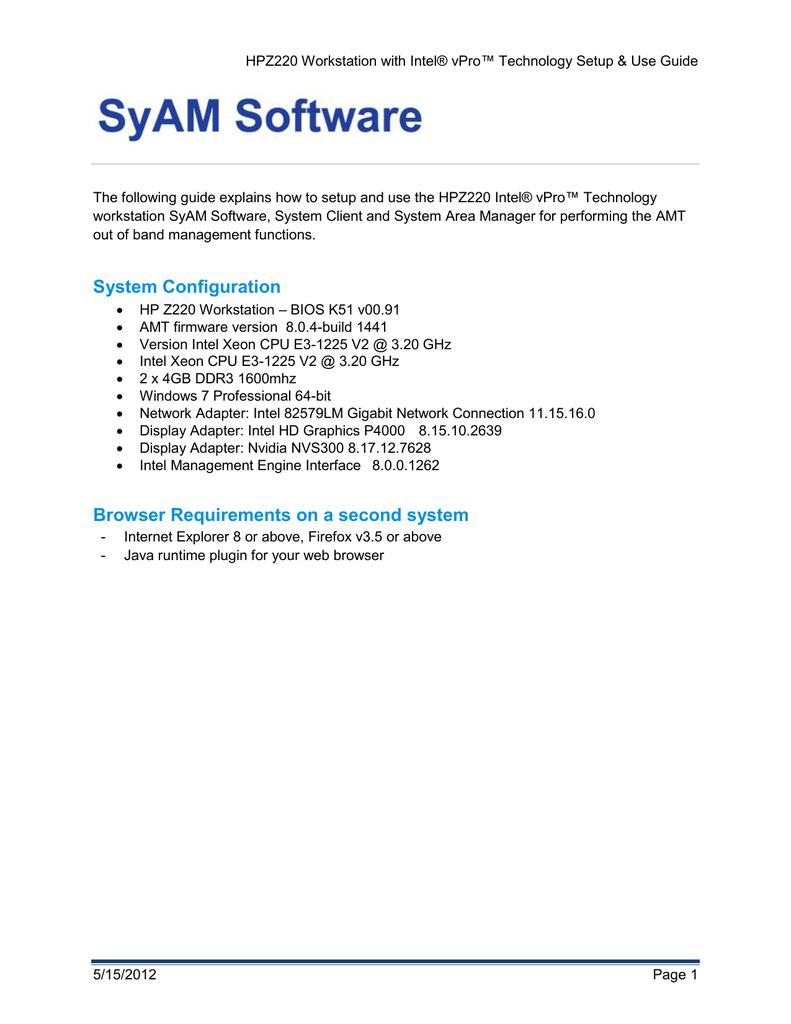 HP Z220 Configuration Guide »   manualzz com