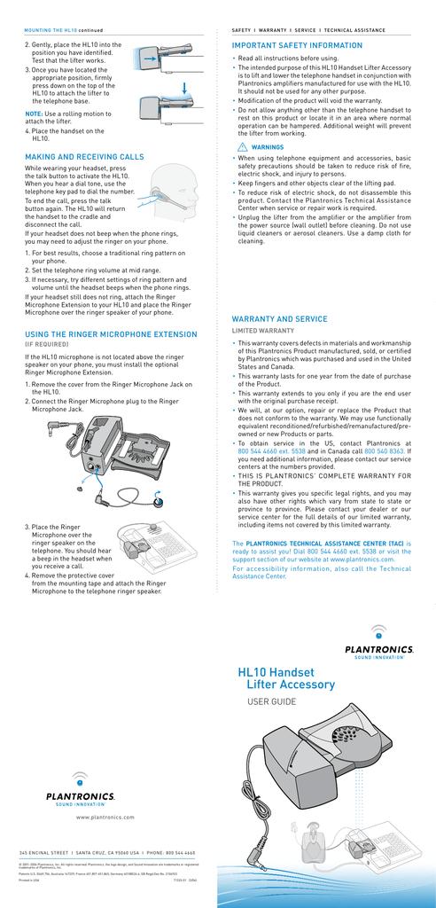 How To Mount A Hl10 Liter Manualzz