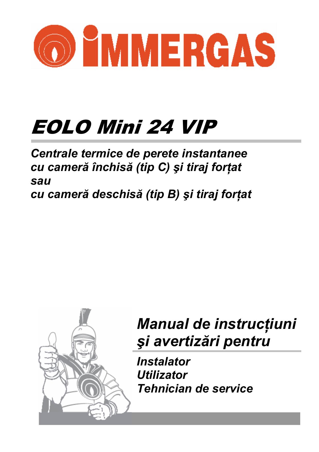 Manual Centrala Termica Immergas Eolo Mini Vip Manualzz Com