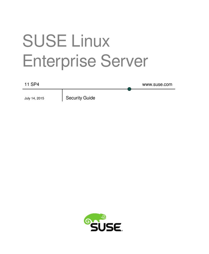 SUSE Linux Enterprise Server www suse com 11 SP4 | manualzz com