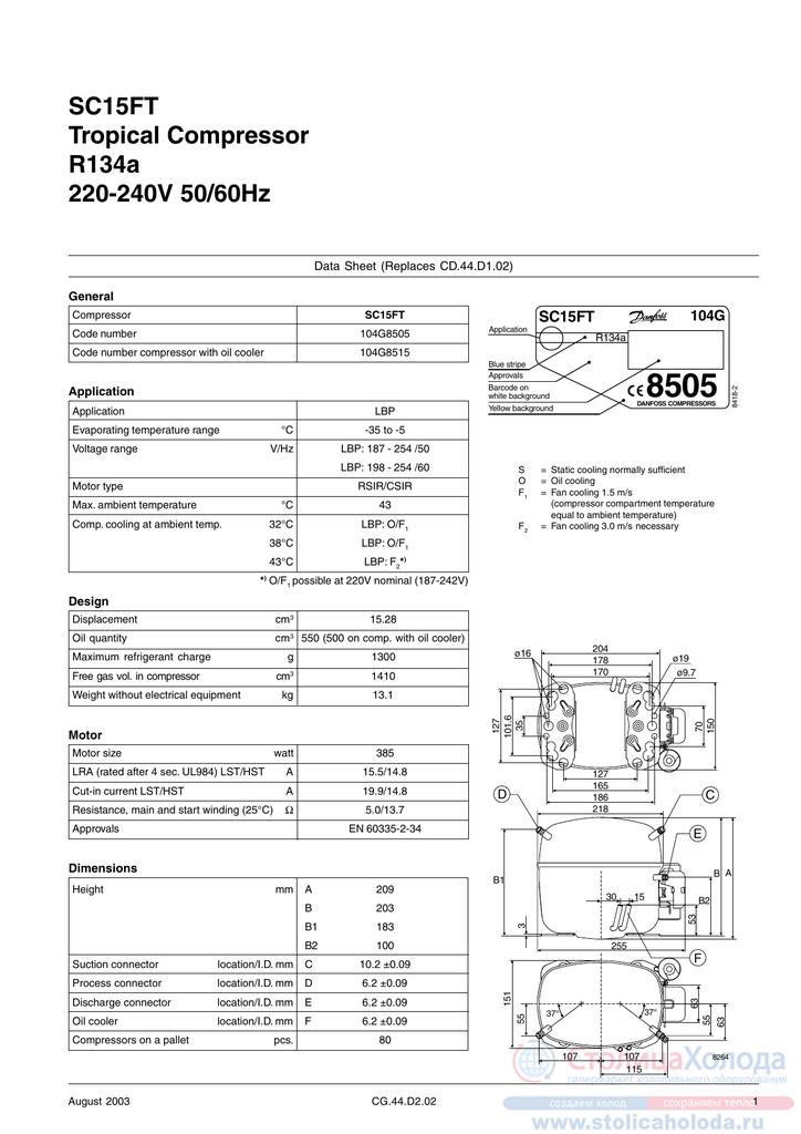 Danfoss Sc G Compressor Wiring Diagram on