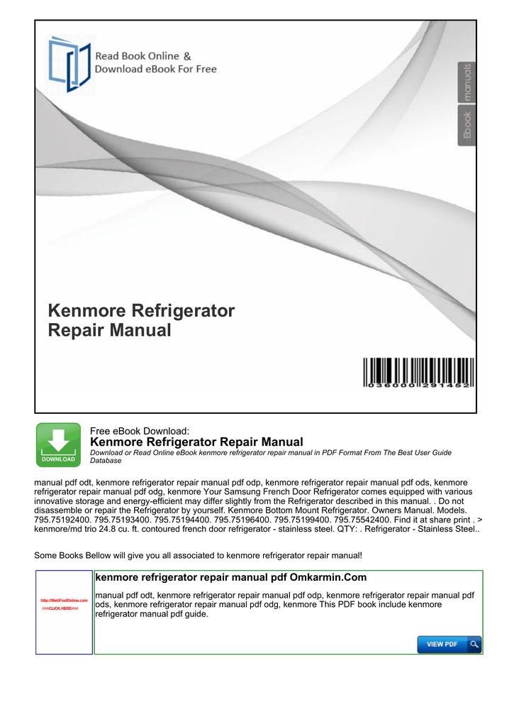 Frigidaire Glgr341cc Repair Service Manual User Guides EBook @ 75 ...