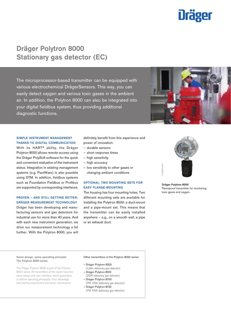 Dräger Polytron 8000 Stationary gas detector (EC) | manualzz com