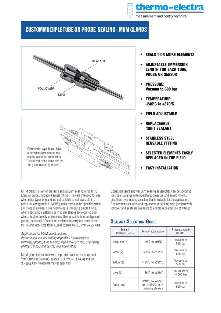 conax mhm multi probe and sensor pressure and vacuum sealed