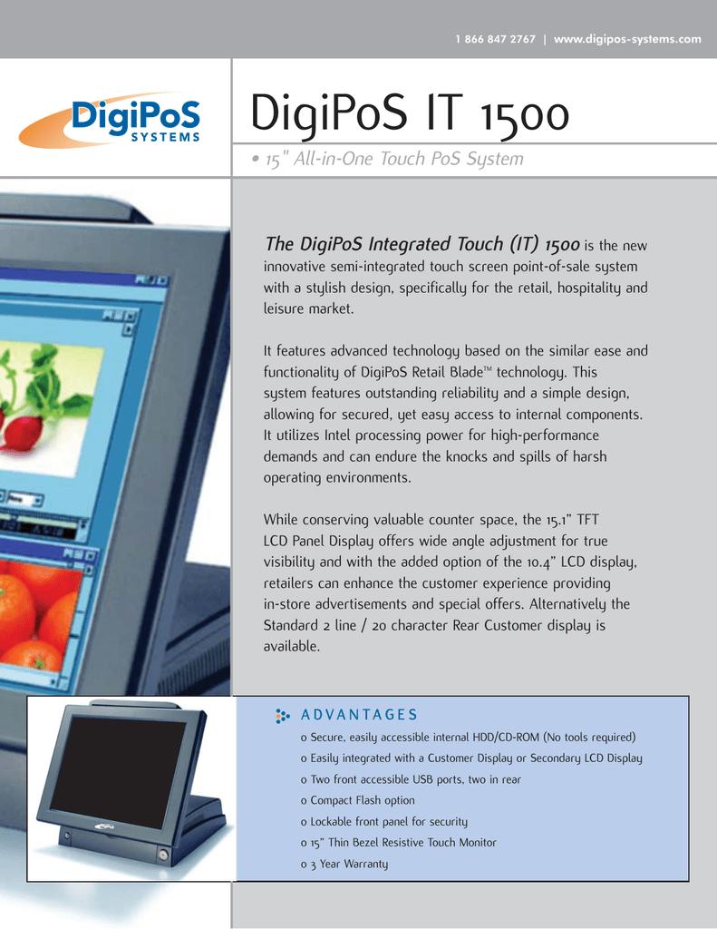 Digipos It1500 Information1 302 85 Kb Xps Manualzz