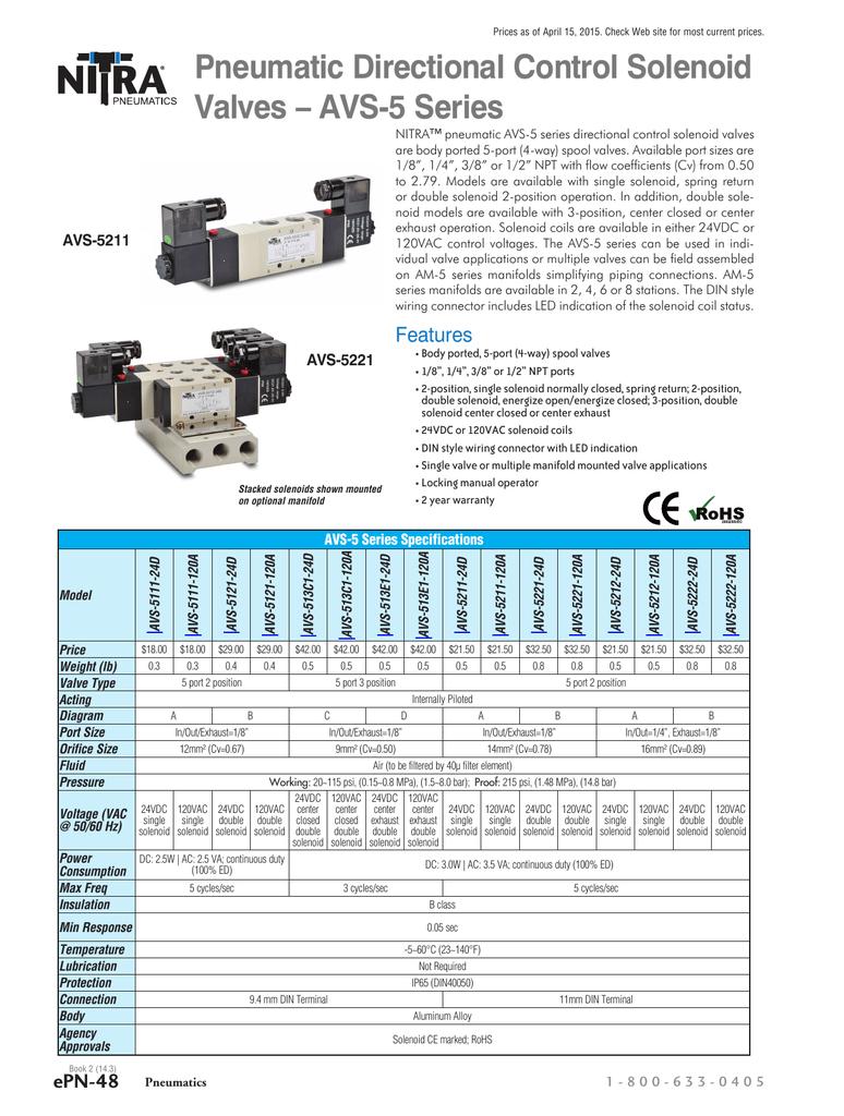 AVS-5 Series Valves   manualzz.com