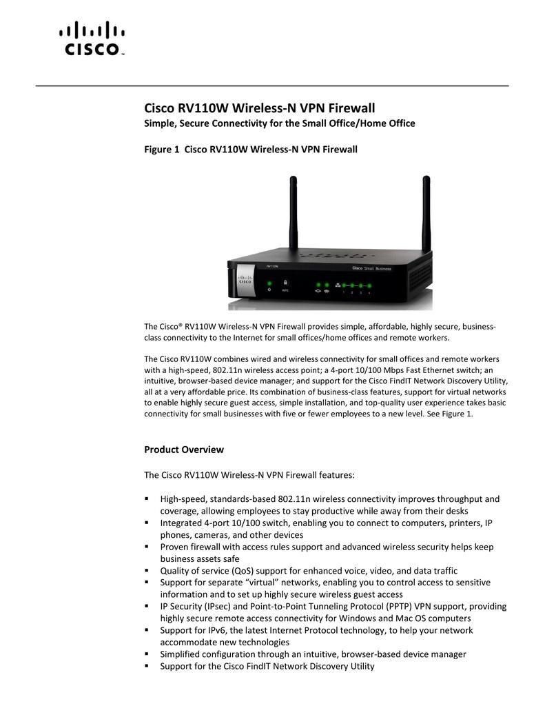Cisco RV110W Wireless-N VPN Firewall | manualzz com