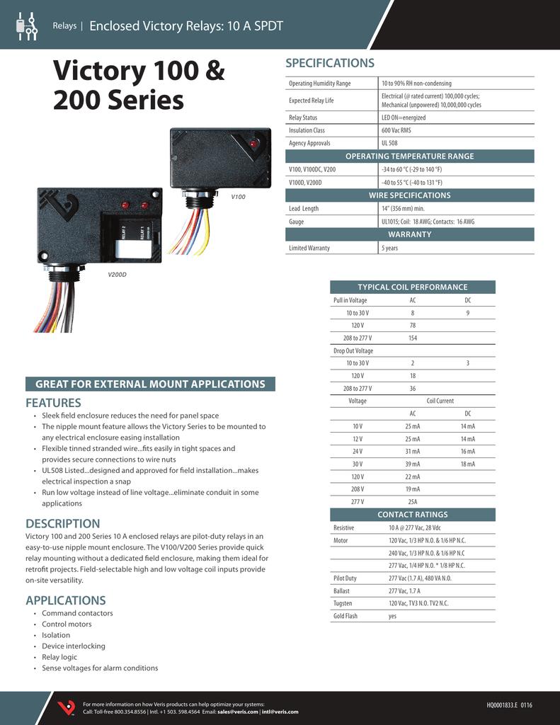 [SCHEMATICS_4PO]  V100/200 | Manualzz | Wiring Diagram Spdt Rib |  | manualzz