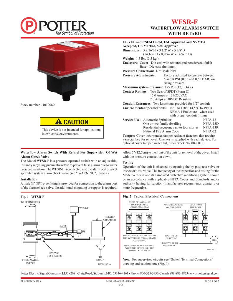 Potter Flow Switch Wiring Diagram from s1.manualzz.com