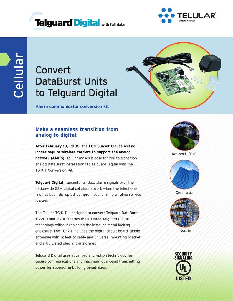 DataBurst to Digital Conversion Kit | manualzz com