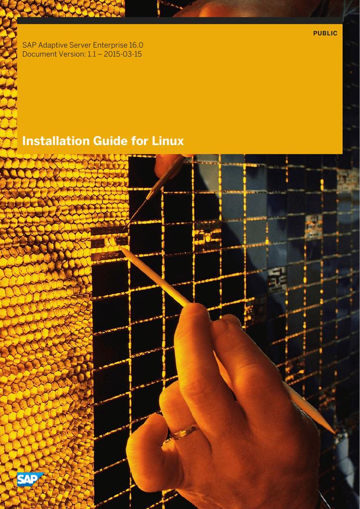 Installation Guide for Linux SAP Adaptive Server Enterprise