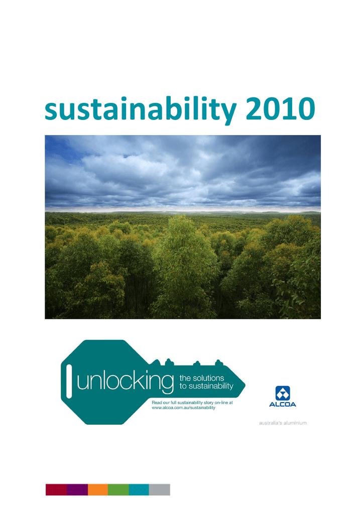 2010 Alcoa of Australia Sustainability Report | manualzz com