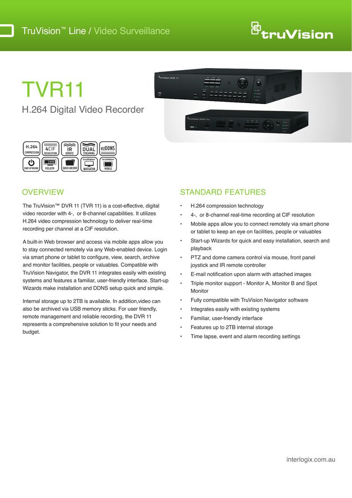 TruVision TVR11 (DVR) | manualzz com
