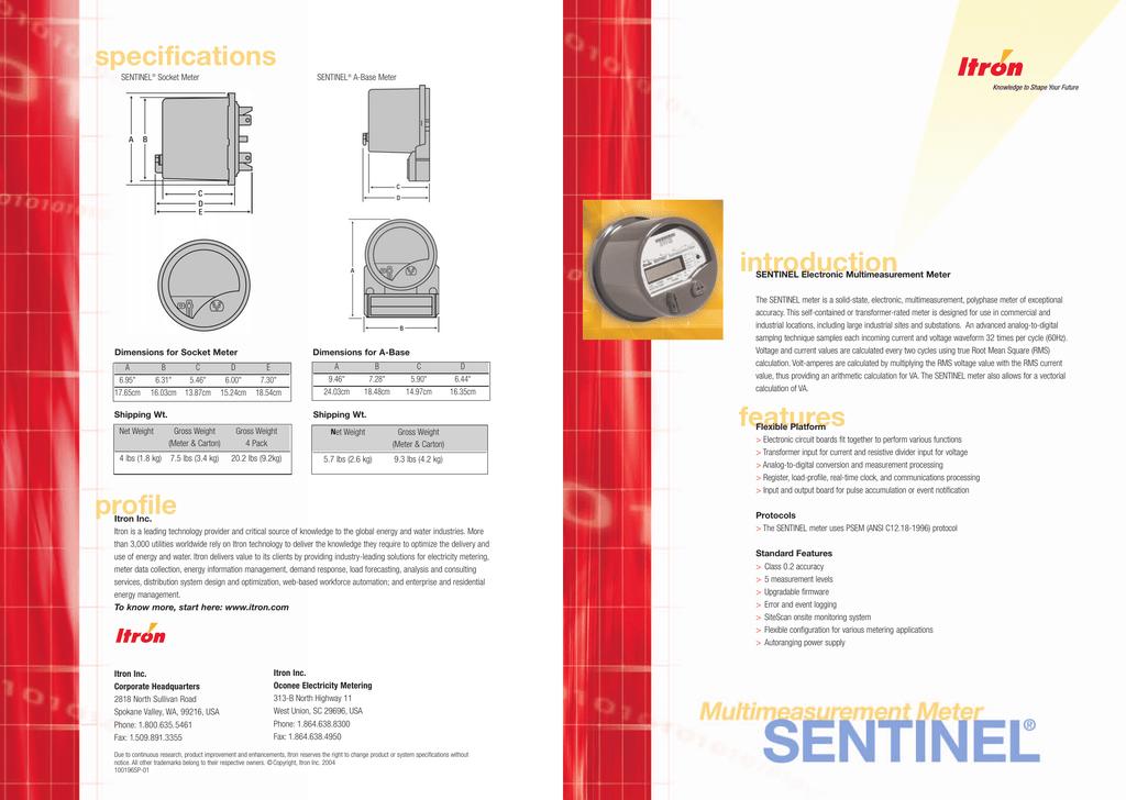 Sentinal Specs () | manualzz com