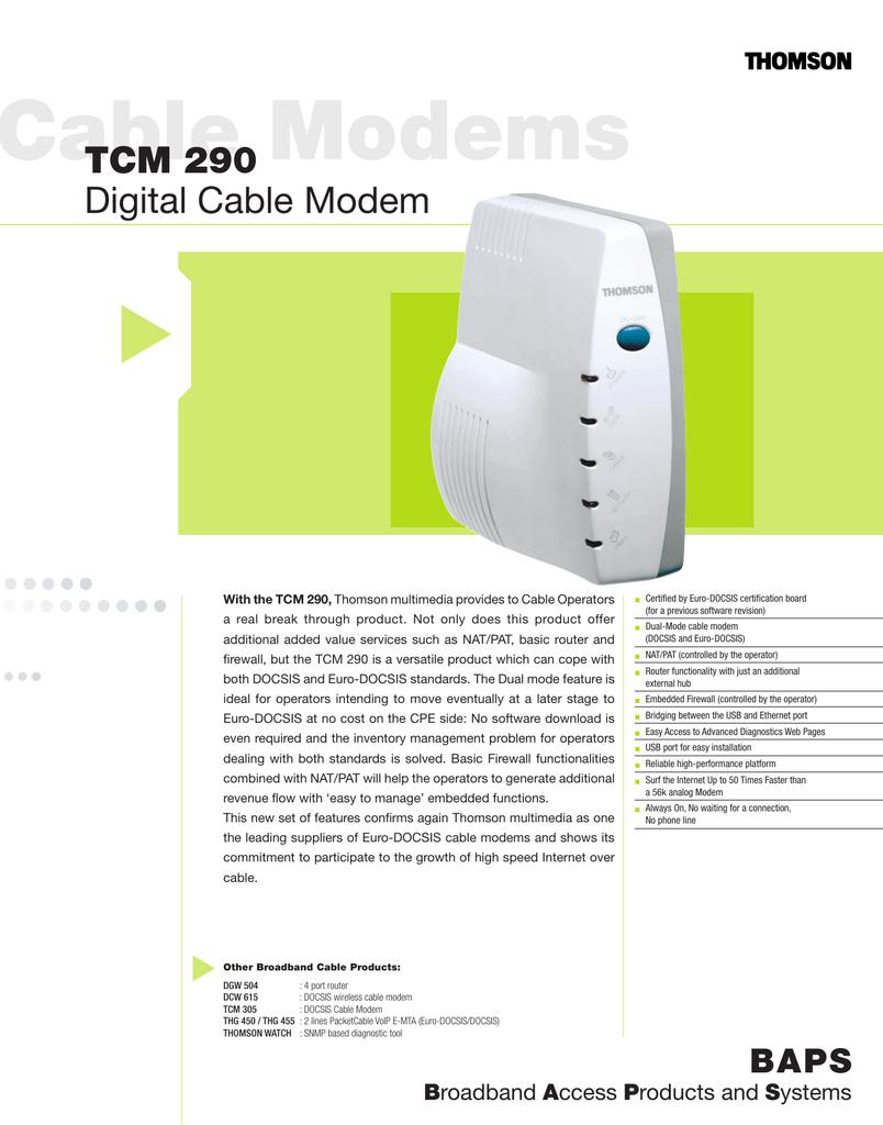 Thomson digital broadband tcm420