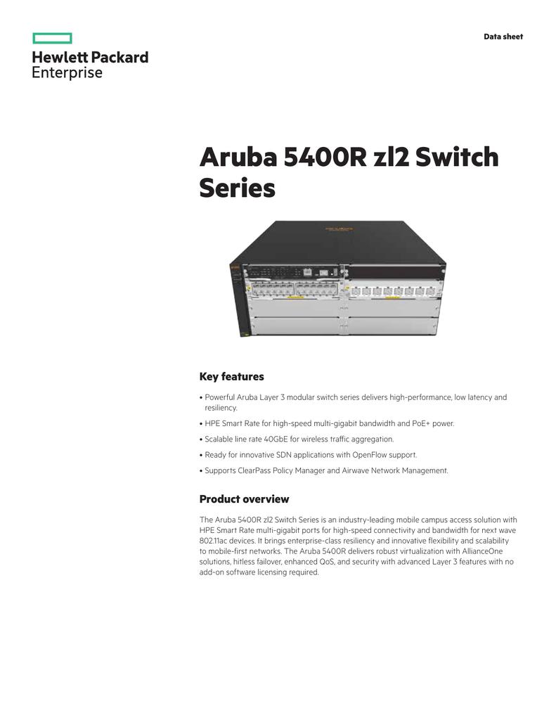 Aruba 5400R zl2 Switch Series Key features | manualzz com