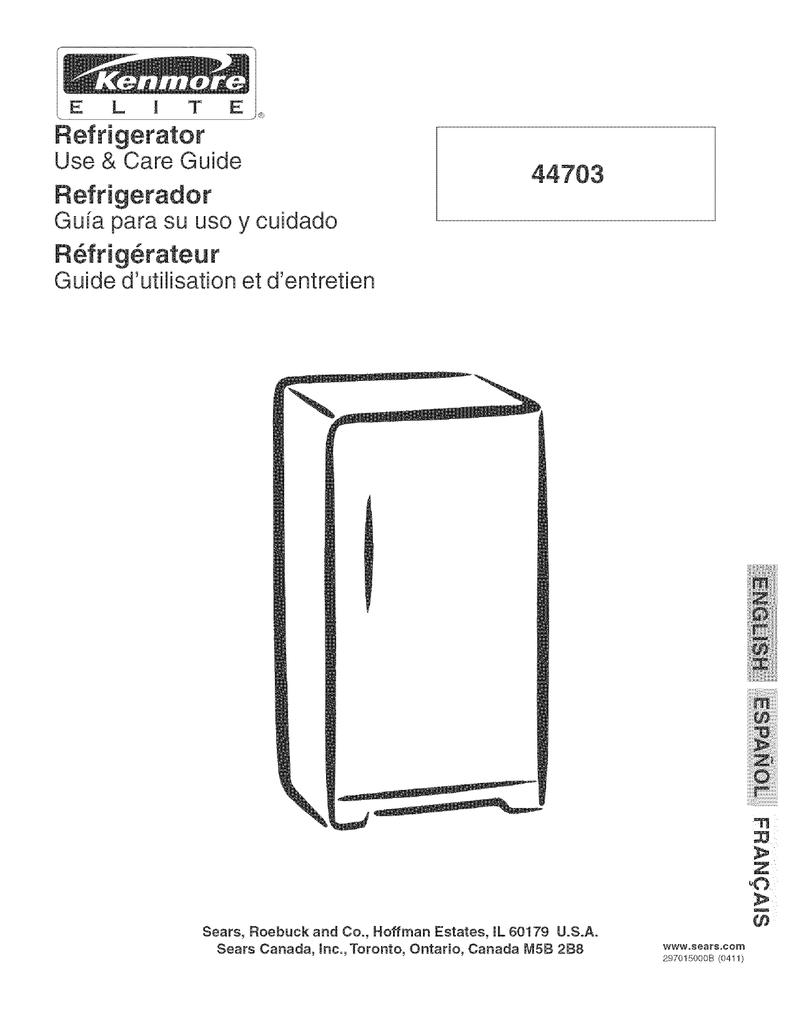 44703 Refrigerador R_frig_rateur Use & Care Guide ... on