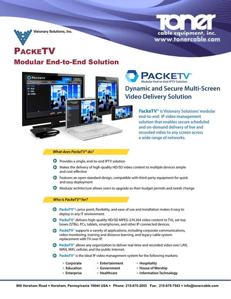 P TV ACKE Modular End-to-End Solution | manualzz com