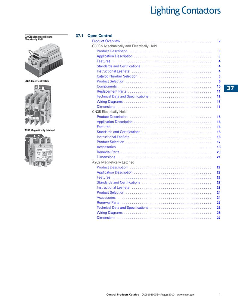 Eaton C320kgs1 Wiring Diagram Free Download Cutler Hammer Transformer Lighting Contactors Manualzz Com Diagrams At