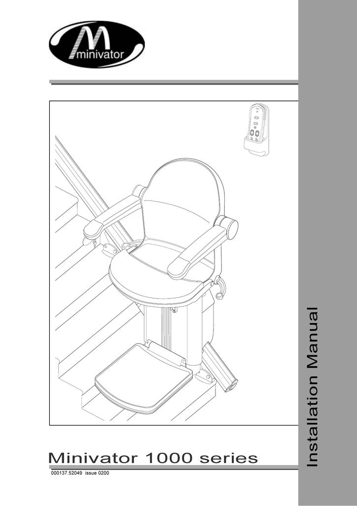 Minivator 1000 Series Installation Manual | manualzz.com on