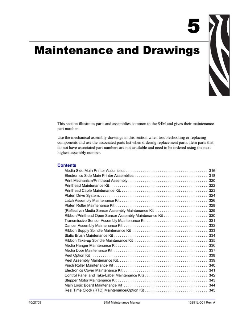 Zebra S4M Parts List Breakout Diagrams   manualzz com