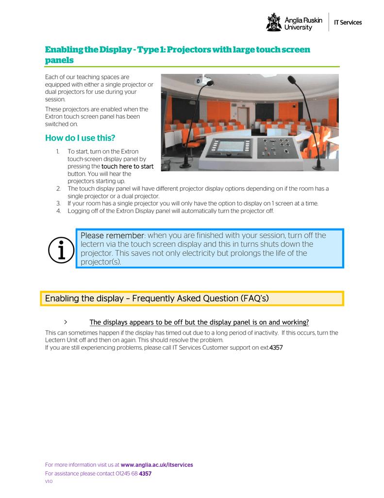 enabling the display | manualzz com